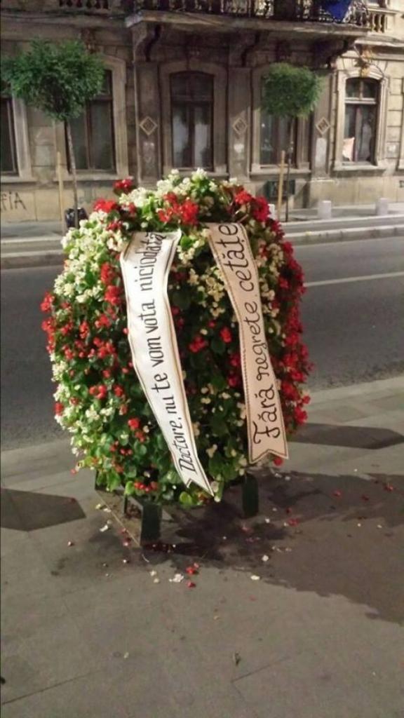 coroana funerara pt primarul Oprescu