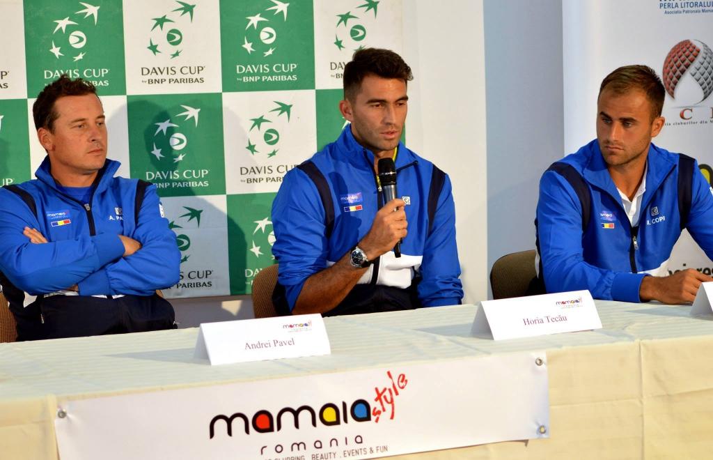 cupa davis romania slovacia conferinta de presa marti 14 iulie 2 la club Idu Mamaia
