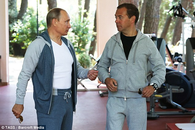 Putin dressed in force gym