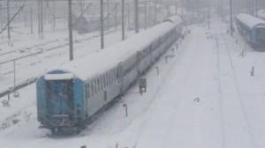 trenuri anulate din pricina gerului