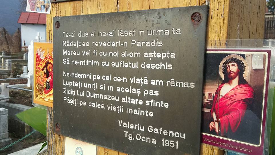 Gafencu catrene Sf Cruce Tg Ocna