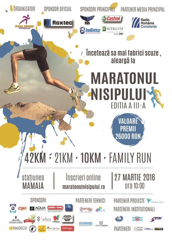 Afis Maratonul Nisipului 2016