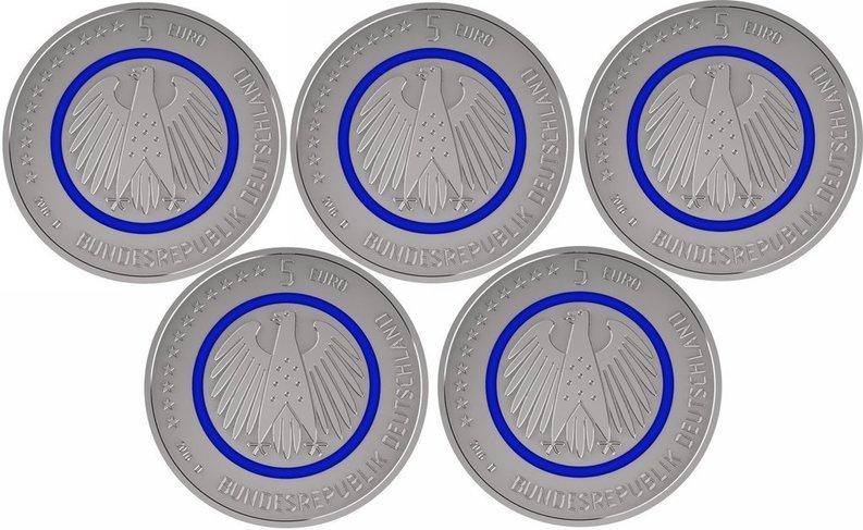 blue 5 euro