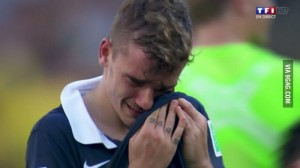Antoine Griezmann crying