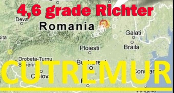 Alerta! Cutremur de 4,6 grade in Bucuresti!