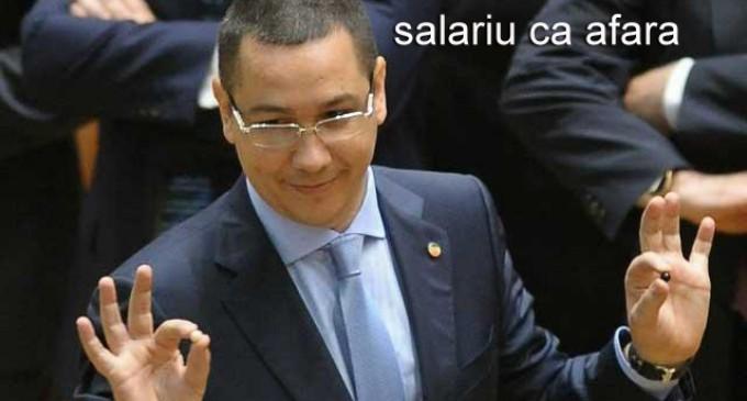 Ponta vrea un salariu mai mare