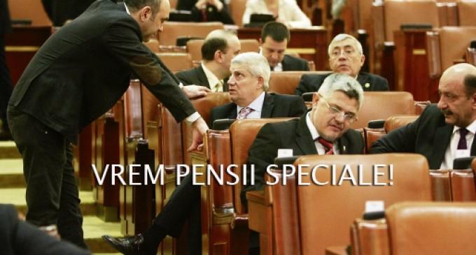 Parlamentarii nostri vor pensii speciale de milioane. Bani mai multi nemunciti pentru crema tarii…
