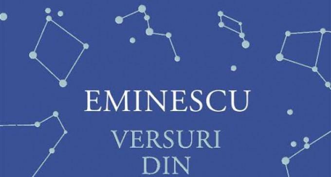 """EVENIMENT! """"Versuri din manuscrise""""- reparație morală adusă peste veacuri lui Mihai Eminescu!"""
