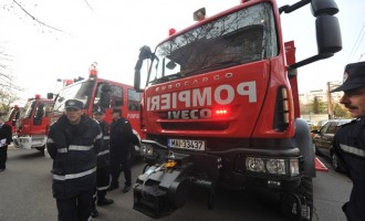 Incendiu la azilul de batrani din comuna Ciacova, judetul Timis