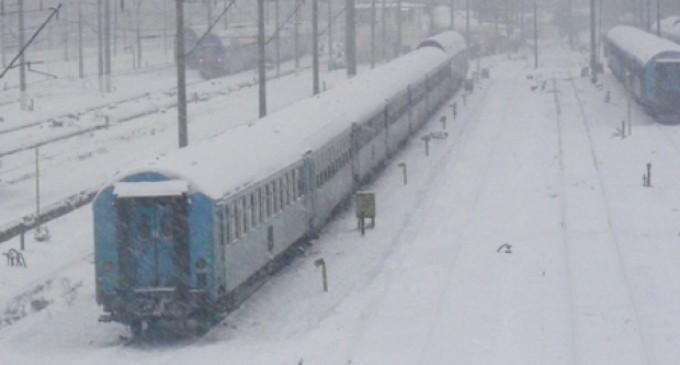 Si astazi sunt  anulate trenuri din pricina iernii!