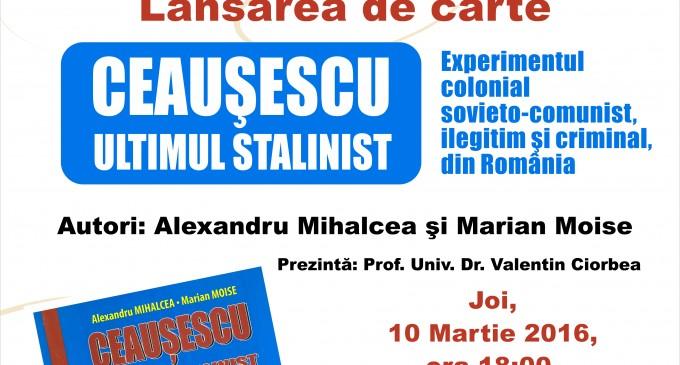 EVENIMENT! Lansare de carte la Curtea Brâncovenească programată pentru data de 10 Martie!