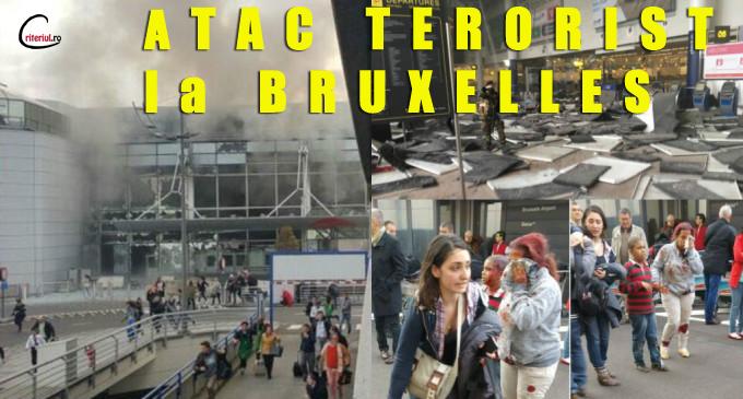 ATAC TERORIST! 6 bombe au explodat in aeroportul si metroul din Bruxelles FOTO