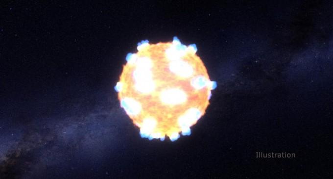 INEDIT!Explozia spectaculoasă a unei stele a fost exemplificată de către NASA!