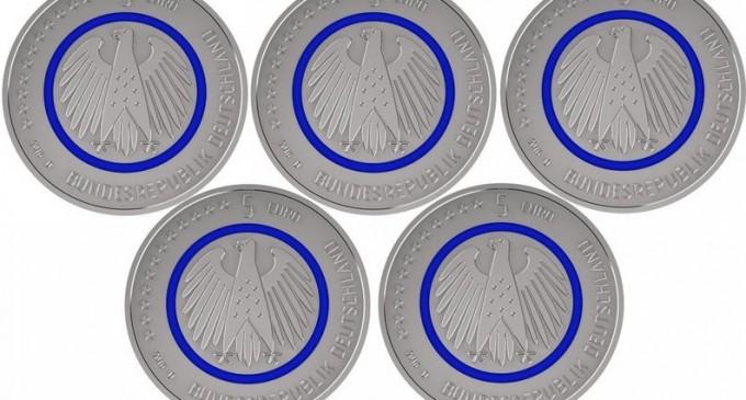 INEDIT! Noua monedă de cinci euro a fost pusă în circulaţie în Germania!
