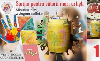 Licitatie: Via Viticola – Sarica Niculițel sprijină viitorii mari artiști