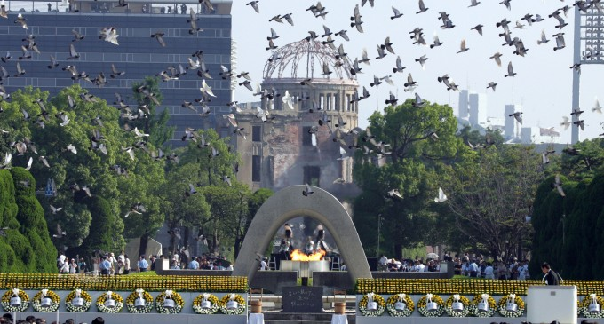 """Barack Obama la Hiroshima : """"Au trecut 71 de ani , de când moartea a căzut din cer """""""