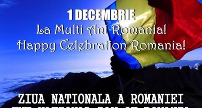 1 Decembrie 1918 – Ziua Nationala a ROMANIEI !….Sarbatorita cu multa fericire de catre toti romanii de pretutindeni !…