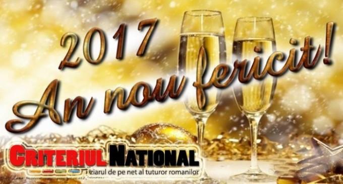 Ziarul Criteriul National va ureaza Un An Nou Fericit!