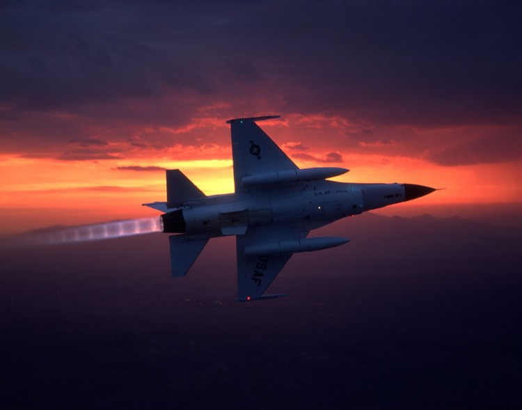 fighter-aircraft-sunset-usaf