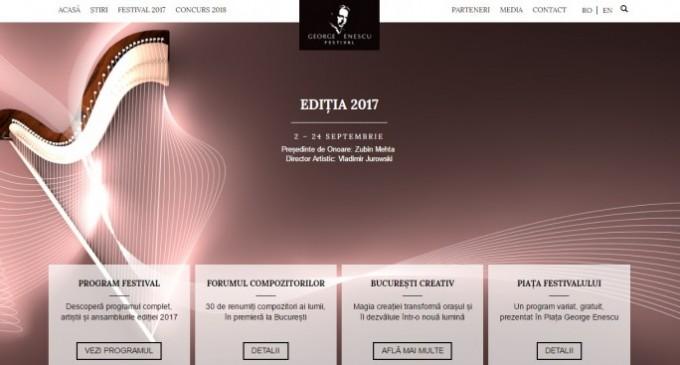 Festivalul Internaţional George Enescu și-a lansat noul site ce permite vizualizarea mai rapidă a programului și biletelor disponibile
