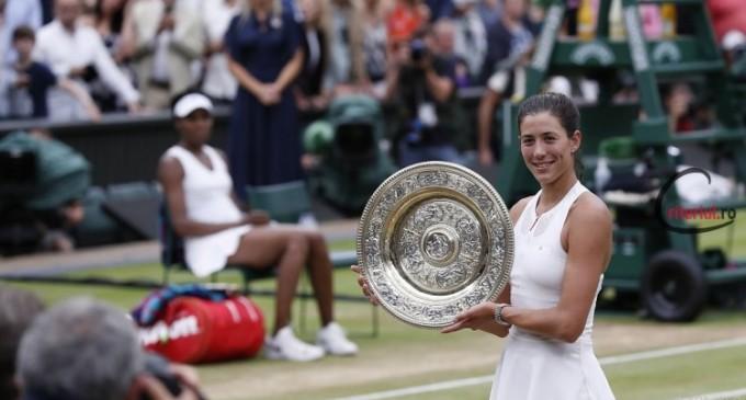 Garbine Muguruza a câștigat finala din acest an de la Wimbledon