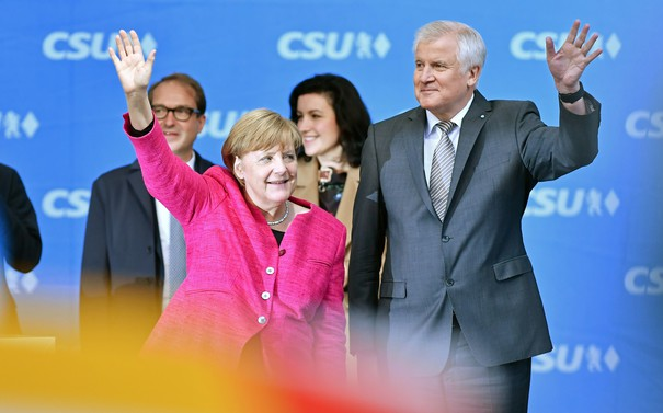 Angela Merkel attends final CSU Federal Election Campaign