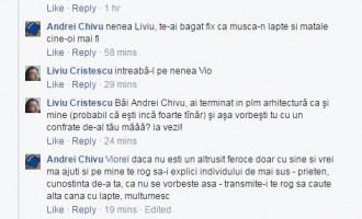 """Dupa epoca Mazăre, ARH de C-ța: """"esti un zeu plin de KKT […] ai terminat in PLM arhitectura ca si mine"""""""