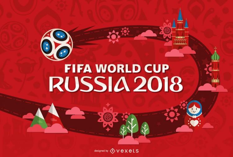 c1b3d27e98a9eb8c959cbc0de9fcd24c-rusia-2018-copa-del-mundo-de-dise-o-en-rojo