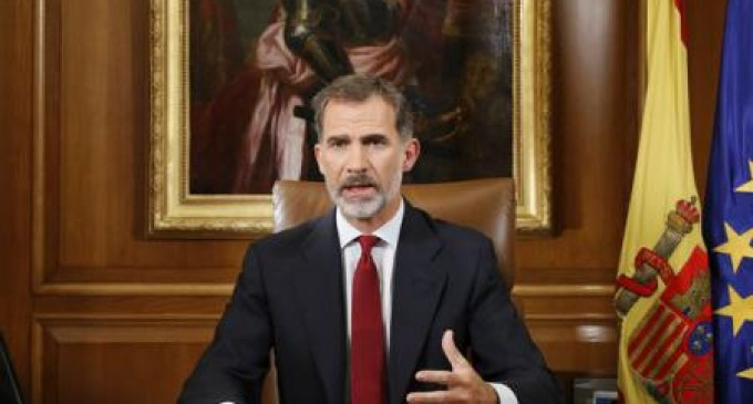 """ACTUAL! Regele Spaniei i-a acuzat pe liderii catalani că s-au plasat """"în afara legii și a democrației"""""""