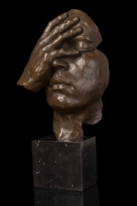ATLIE-Bronzes-Antique-Statue-Abstract-Human-Face-Thinking-Bronze-sculpture-Home-Decoration