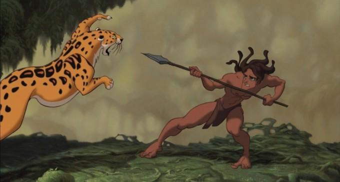 Un alt Tarzan printre liane