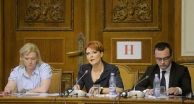 USR: Lia Olguţa Vasilescu trebuie să plătească factura pentru Legea salarizării cu demisia