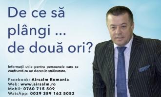 Airsalm Romania. Repatriere decedati si transport funerar din Italia, Spania, Anglia, Franta, Germania, Belgia. Apel de urgenta in caz de deces. 004. 0760 715 509