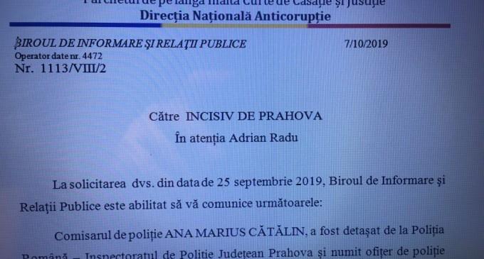 """Comisarul de poliție ANA MARIUS CĂTĂLIN de la DNA ST Ploiesti – specialist in """"ecologie"""" – a terminat o facultate neacreditata la acea vreme"""