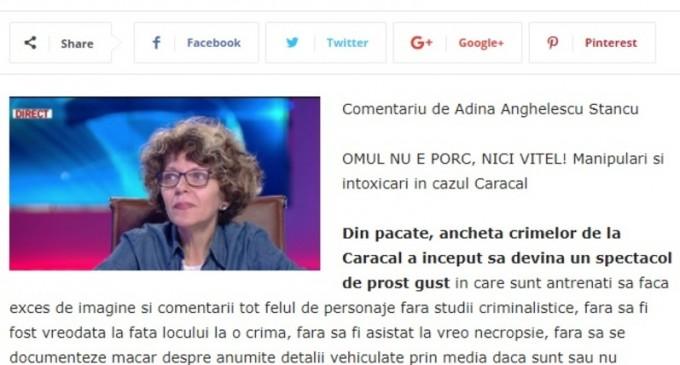 """Adina Anghelescu încetează """"total"""" colaborarea cu Lumea Justiției – Media & Publicitate"""