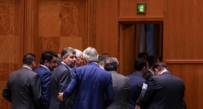 Digi24: VIDEO&FOTO | REPORTAJ Ziua în care PSD s-a dus în Parlament să moară