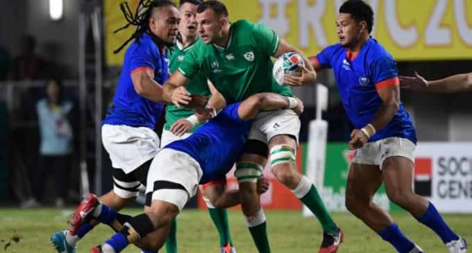 CM Rugby: Irlanda s-a calificat în sferturi, după ce a învins-o pe Samoa (scor 47-5) – TeamBall