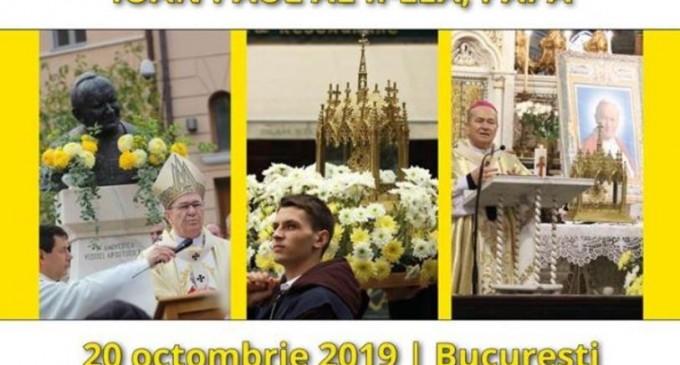 Relicva Sfântului Papă Ioan Paul al II-lea, purtată în procesiune pe străzile Capitalei – Esential