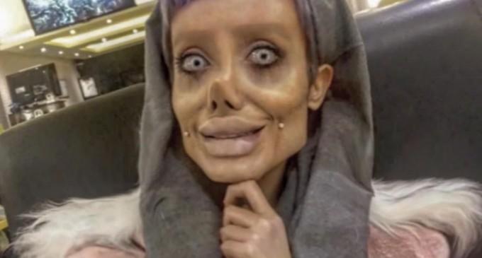 Femeia care a făcut 50 de operații estetice pentru a arăta ca Angelina Jolie, arestată în Iran – International