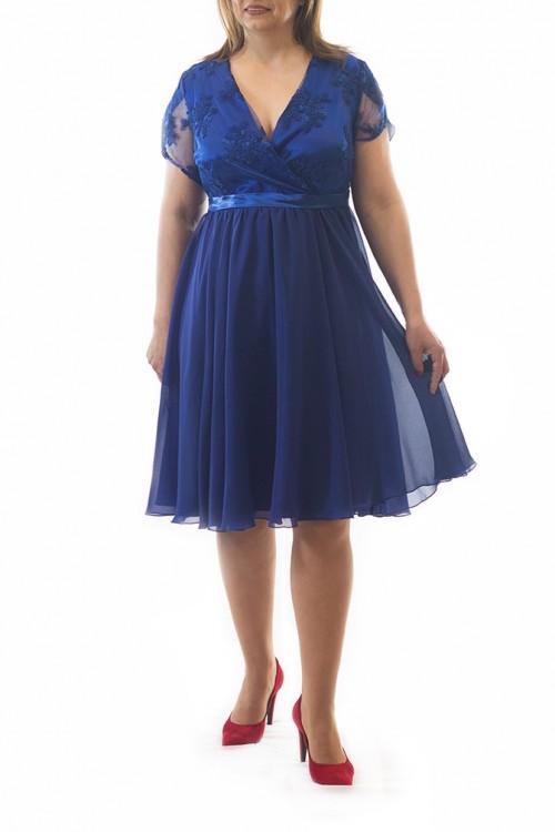 rochie-plus-size-albastra