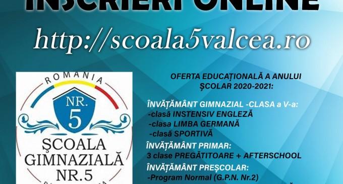 Şcoala Gimnazială Nr. 5, una dintre cele mai bune şcoli vâlcene 2020-2021