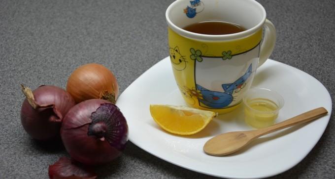 Cum poti trata raceala cu ceai de ceapa
