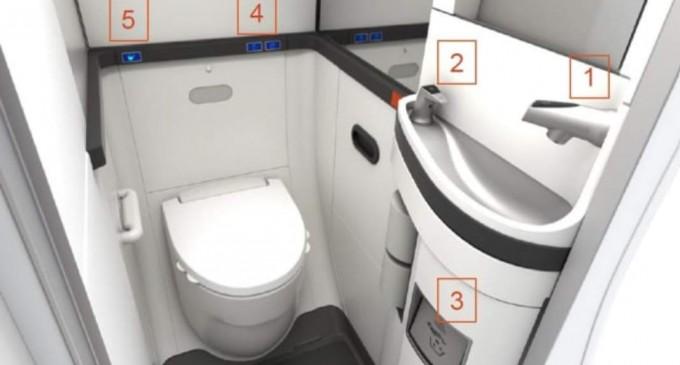 GALERIE FOTO Cum arată soluția pentru zborurile viitorului: toaletele touchless – Companii