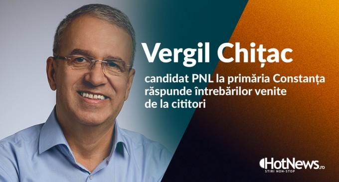 VIDEO Vergil Chițac, candidat PNL la Primăria Constanța, în dialog cu cititorii – partea a doua: Suntem la un minim istoric în ceea ce privește metri pătrați de spații verzi pe cap de constănțean. Suntem la 13 metri pătrați de spații verzi, față de o normativă europeană de 26. – Politic