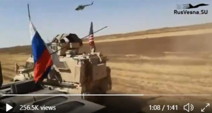 VIDEO Ce se știe despre confruntarea dintre vehicule militare și elicoptere rusești și blindate americane în Siria – International