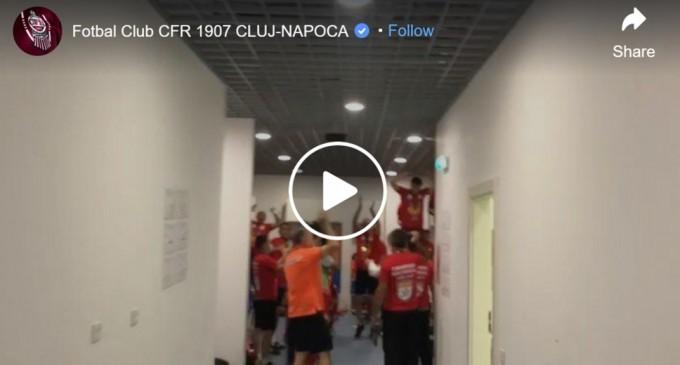 VIDEO Bucuria din vestiarul CFR-ului după un nou titlu de campioană a României – Fotbal