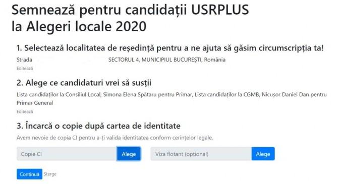 Alianța USR PLUS strânge semnături online, mecanismul fiind aprobat de Autoritatea Electorală – Politic