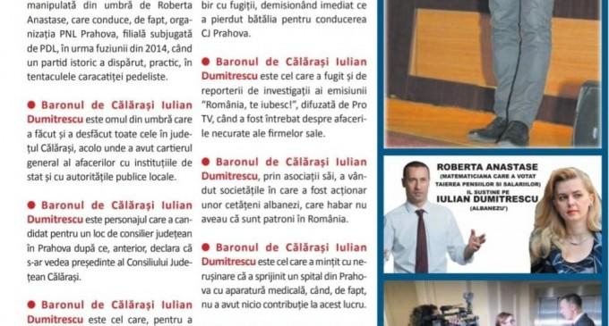 Editia print a ziarului Incisiv de Prahova blocata la distribuire in judetul Prahova/Cine este baronul de Calarasi Iulian Dumitrescu?/INFRACTIUNI PE BANDA RULANTA
