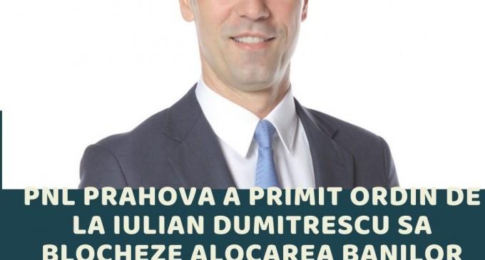 Liberalii din Consiliul Județean sabotează proiectele pentru prahoveni, la îndemnul șefului lor de la Călărași, Iulian Dumitrescu!