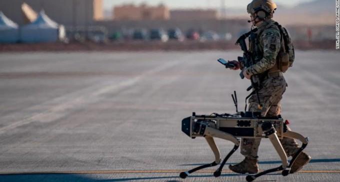 VIDEO Războiul viitorului: Forțele Aeriene ale SUA și-au prezentat robo-câinii – Tehnologie